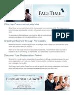 Facetime Onesheet