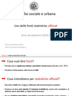Uso Dei Fonti Statistiche Ufficiali
