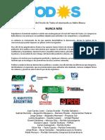 declaración de partidos por el atentado en Bahia Blanca