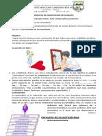 TALLER DIRECION DE GRIPO CULTIVANDO MI AUTOESTIMA 2021- SECUNDARIA