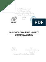 LA SEMIOLOGÍA EN EL AMBITO COMUNICACIONAL ANDREA JIMÉNEZ