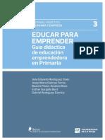 Guía de Actividades Para Enseñar Emprendimiento Para Primaria