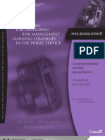A Foundation for Developing Risk Management Learning Strategies in the Public Service