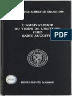 Marrou - Ambivalence du temps de histoire chez saint Augustin