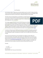 Letter From Superintendent to NVSD Community