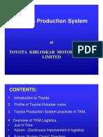 Toyota Milk Run System