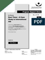 east timor aid