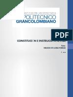 1-2018. Presentación. Constitución e instrucción cívica