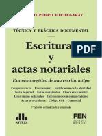 Escrituras y Actas Notariales 7ma Ed _ Natalio Pedro Etchegaray Rebajado
