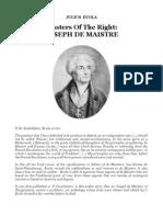 Julius Evola - Masters of the Right-Joseph de Maistre