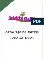 Catálogo de juegos para exterior Kiddy Fun