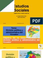 6to. Grado División política y administrativa del Ecuador