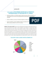 Informe Acceso Agenda Audiovisual Febrero 2011