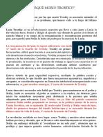 CAUSAS DE LA MUERTE DE TROSTKY