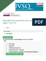 Résultats de recherche pour Informatique , page 1 sur 16 - ISTY