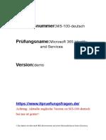 Fragen zur Prüfung MS-100 Prüfungsunterlagen Deutsch englisch