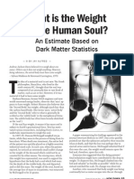 Weight of the Human Soul - An Estimate based on Dark Matter Statistics