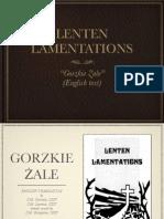Lenten Lamentations [Gorzkie Zale]