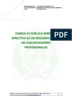 Consulta EU Directiva de Cualificaciones Profesionales