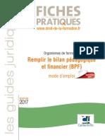 BASE - Formation - Remplir le bilan pédagogique et financier