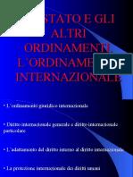 3 Stato e altri ordinamenti Ordinamento internazionale