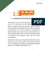 INTRODUCTION OF BANK OF BARODA