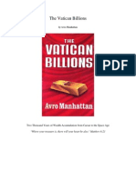 The Vatican Billions - Avro Manhattan
