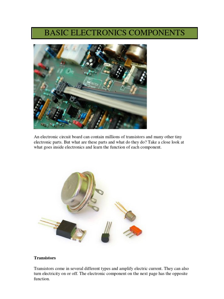 Basic Electronics Parts Electronic Component Learn About Circuit Boards