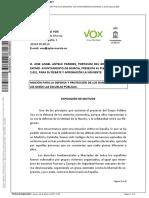 Moción del grupo municipal de Vox Murcia
