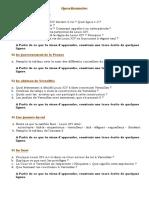 questionnaire Louis XIV