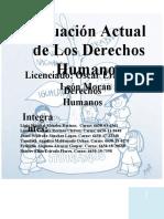 TRABAJO GRUPAL SITUACIÓN ACTUAL DE LOS DRECHOS HUMANOS