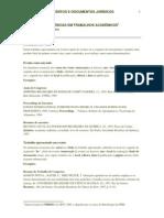NORMAS ABNT - CITACOES E REFERENCIAS