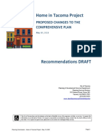 Home In Tacoma - Planning Commission - Additional Materials