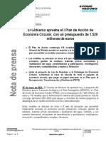 I Plan de Acción de Economía Circular de España