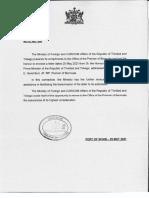 TPN 900 to Bermuda Re Letter to Premier - COVID 19 Vaccine Donation