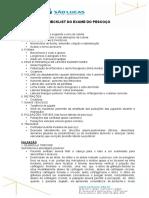 Checklist Do Exame Do Pescoco