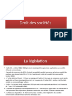 COUR DE DROIT DE SOCIETE