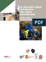 Le document unique évaluations des risques profressionnels Guide pratique et mise en oeuvre