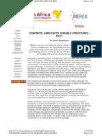 CONCRETE HARD FACTS DURABLE STRUCTURES Part I