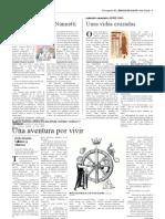 """""""Una aventura por vivir"""" - Reseña para el suplemento cultural semanal 'Artes&Letras' de Heraldo de Aragón (20.05.2021)"""