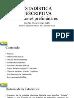 ESTADÍSTICA DESCRIPTIVA- Nociones preliminares