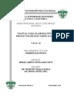 Manual Para Elaboración de Proyectos de Electrificación