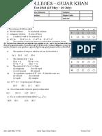 Phast test 2 Inter 1 mathematics