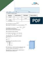 Miniteste 10- Monómios e polinómios