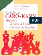 A. Karpov & M. Podgaets- La Defensa Caro Kann 1