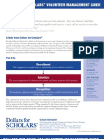 Dollars for Scholars Volunteer Management Guide