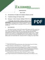 Briefing Memo House Vaccine Hesitancy Hearing 2021.05.26