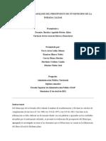 ANÁLISIS DEL PRESUPUESTO DE LA DORADA (1)