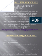 Japan Earthquake  and  The Global Energy Crisis 2011