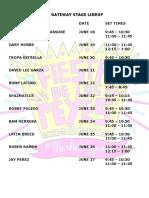 2021 Official Fiesta de Los Reyes Lineup